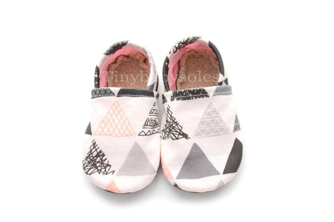 AZTEC PINK TRIANGLE ORGANIC BOOTIE