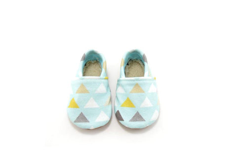 BABY BLUE TRIANGLE ORGANIC BOOTIE