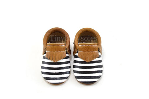 Weathered Brown Onyx Stripes Moccasins