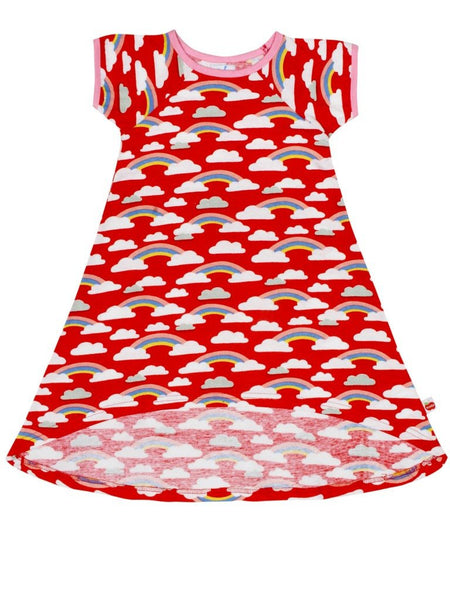 Mabel Red Rainbow Dress