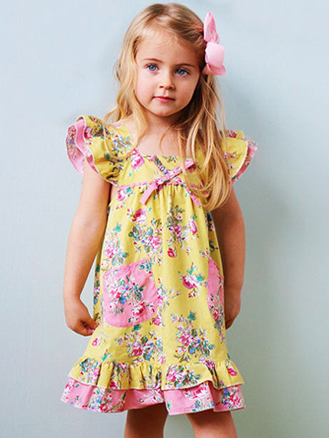 Vestido Holly Lemon Floral Dress