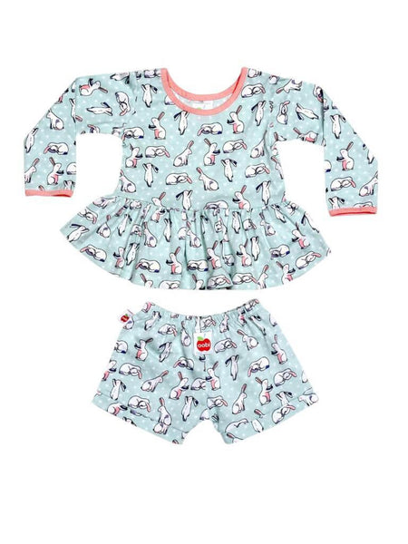 Vestido Mia Mint Bun Bun Dress Baby Set