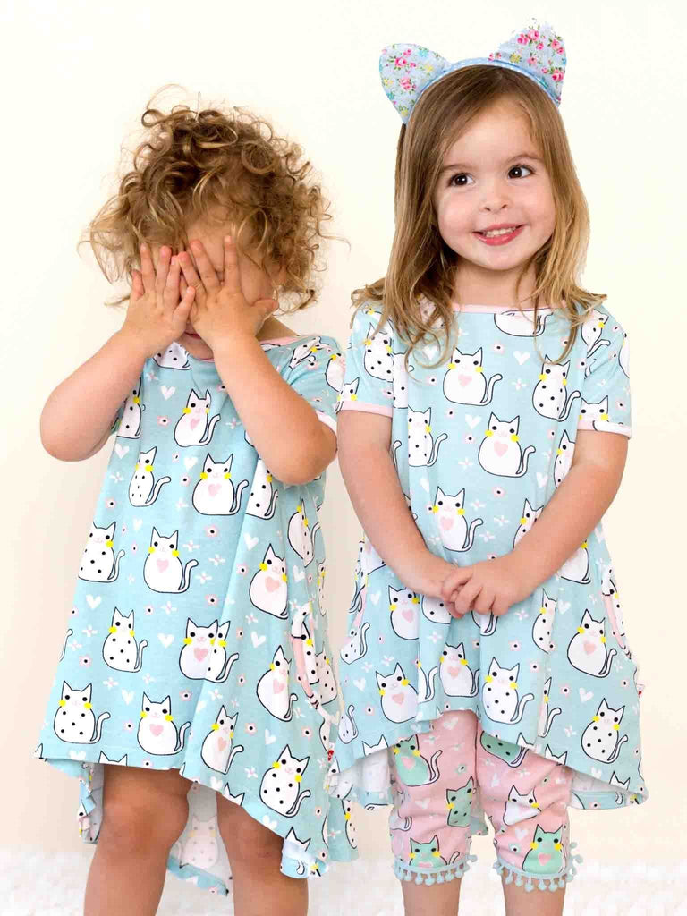Vestido Mika Aqua Kitty Dress