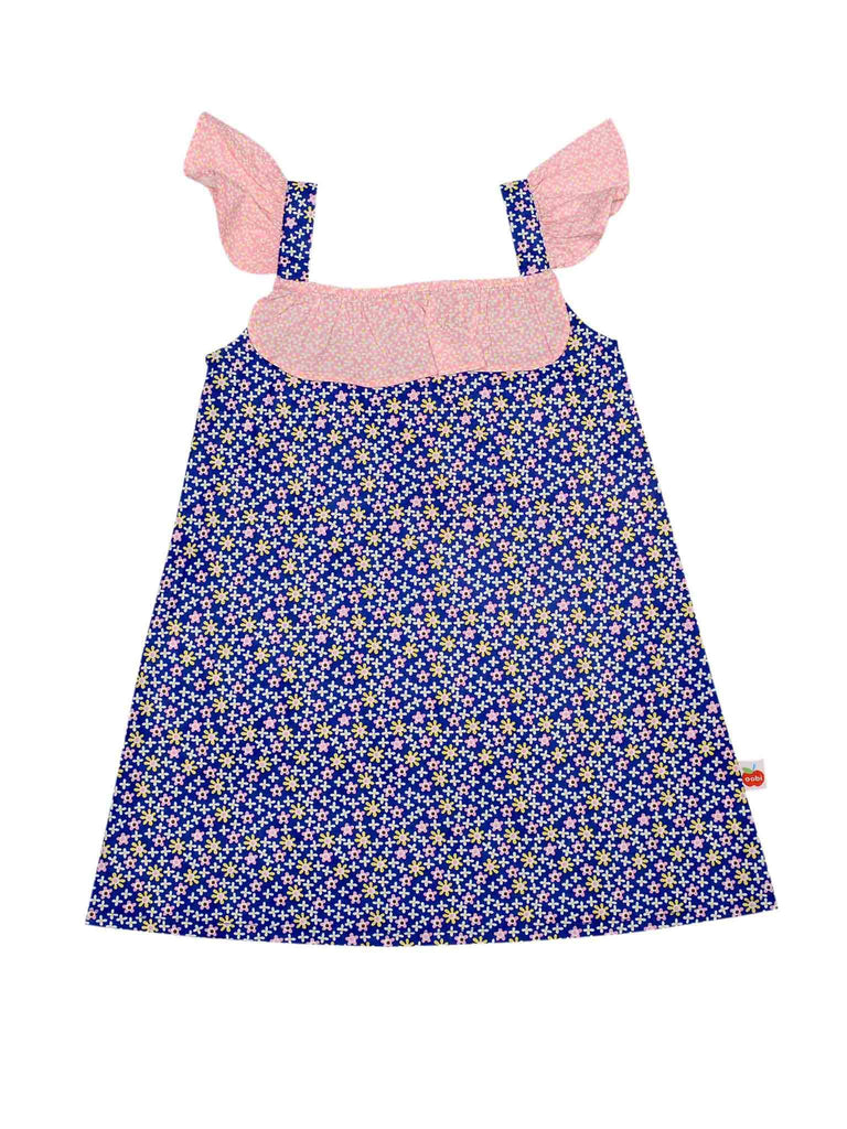 Rosie Navy Ditsy Dress - De 3 a 9 anos