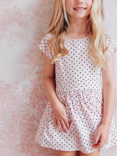 Vestido Asher Pink Polkadot Dress