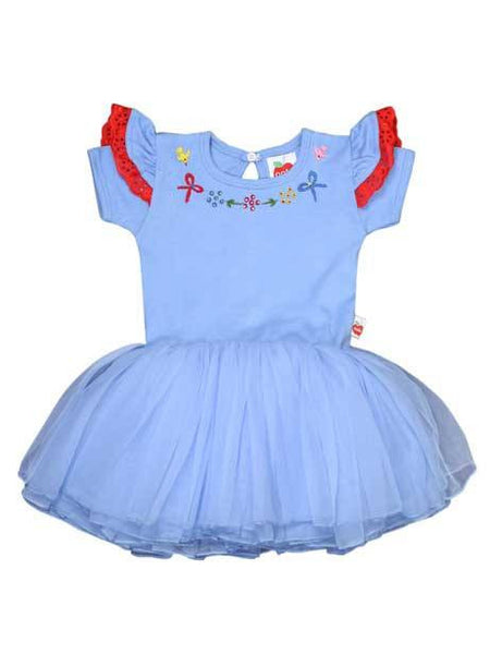 Vestido Fluttery Body Dress Bluebird - ULTIMA UNIDADE 12M