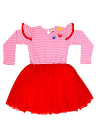 Vestido Fluttery Red Birds Tutu