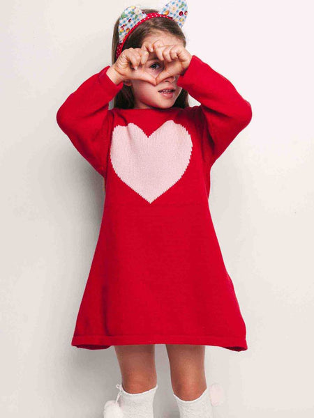Vestido Sweetheart A-Line Knitted Dress
