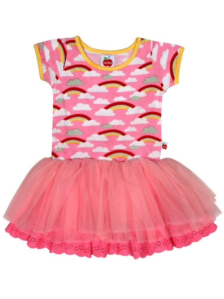 Claudia Pink Rainbow Dress