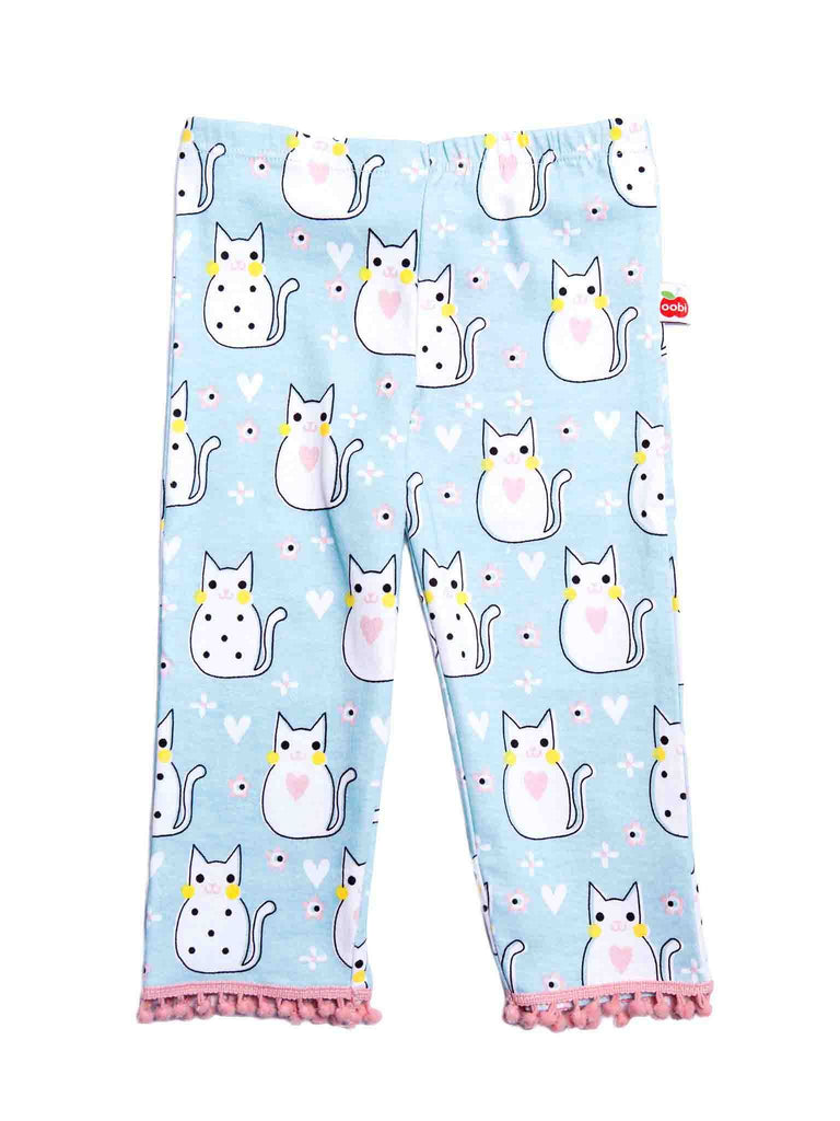 Legging Kitty Aqua 3/4