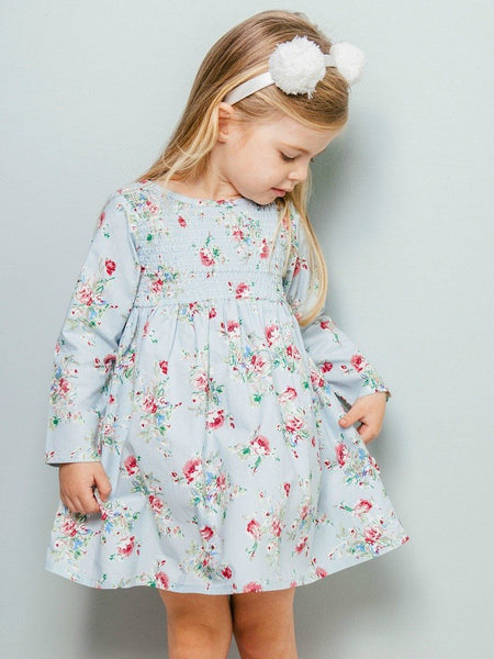 Vestido Paige Blue Painted Floral - 2 a 6 anos - ULTIMA UNIDADE 4A