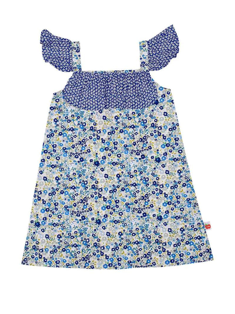 Rosie Navy Primrose  Print Dress - de 1 a 7 anos
