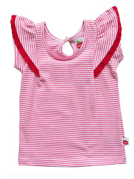 Blusa Flutter Pink Striped