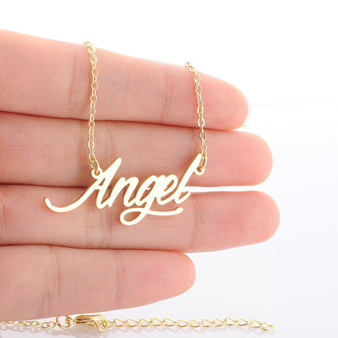 14k Gold Plated Angel Necklace