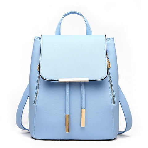 PU Leather Bags Candy Color Travel  bag