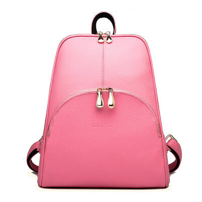 Casual Women Leather Backpack