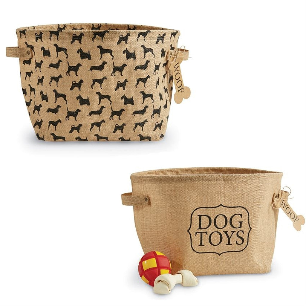 Dog Toy Basket Set
