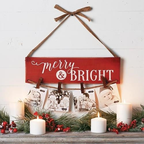 Merry & Bright Photo Holder
