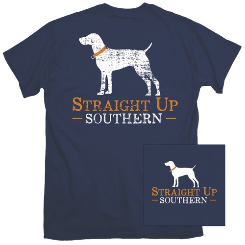 Straight Up Southern Shirt - Navy