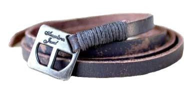 Leather Wrap Bracelet - Vintage Grey