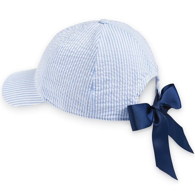 Seersucker Hat - Adult - Blue