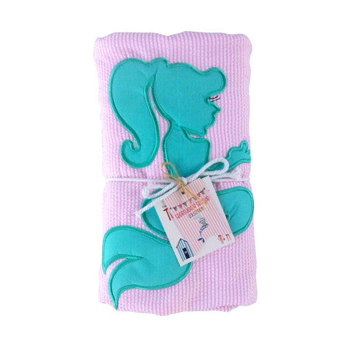 Seersucker Towelkets- Seaside Collection - Mermaid
