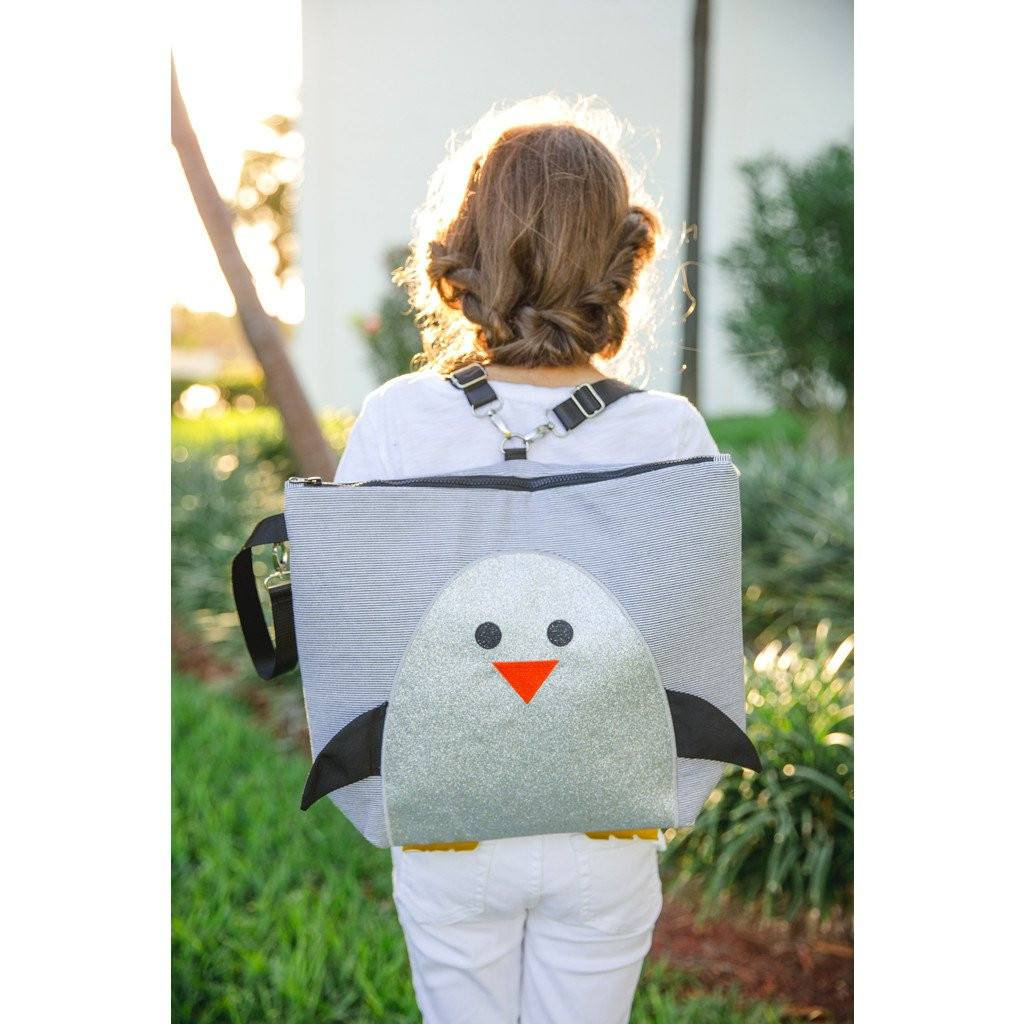 Backpack - Forever Young Wet + Dry Backpack - Glitter Silver Penguin