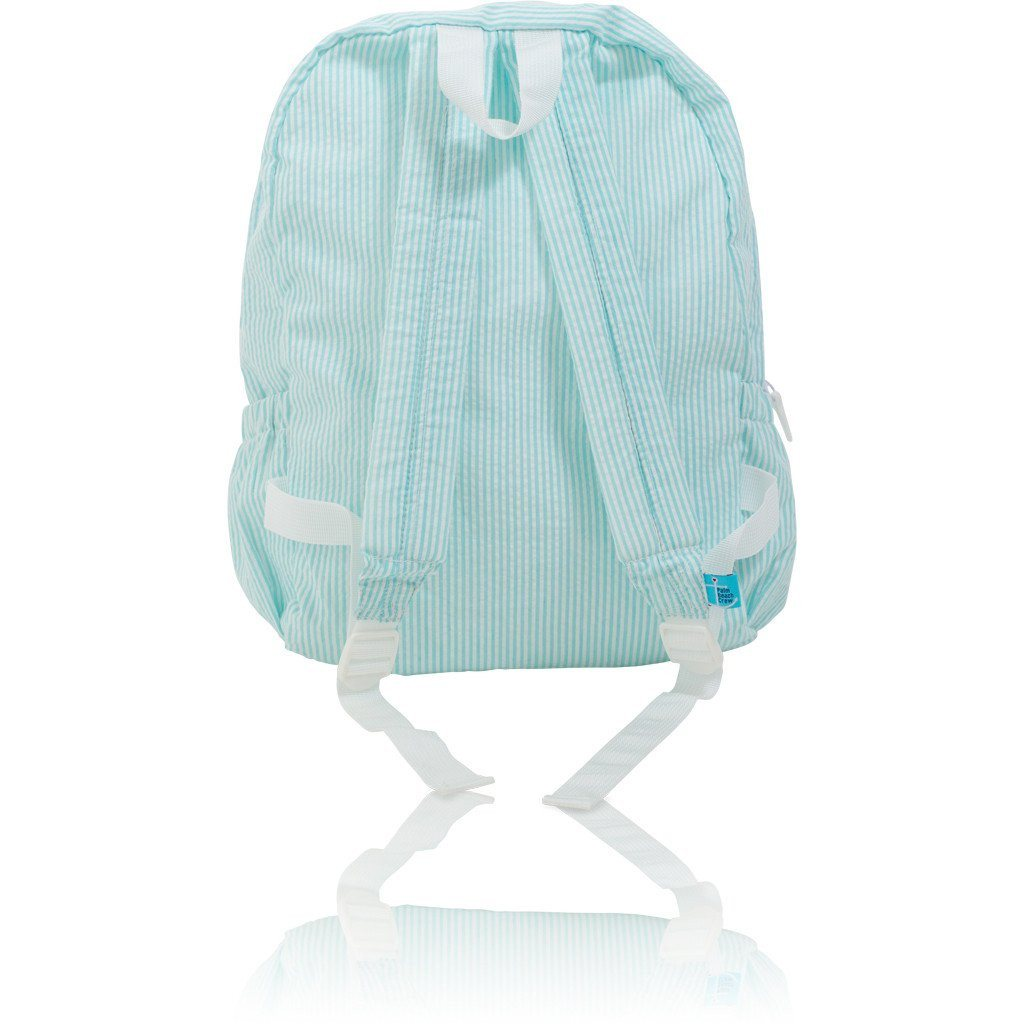 Backpack - Seersucker Backpack - Seaside Collection - Seahorse
