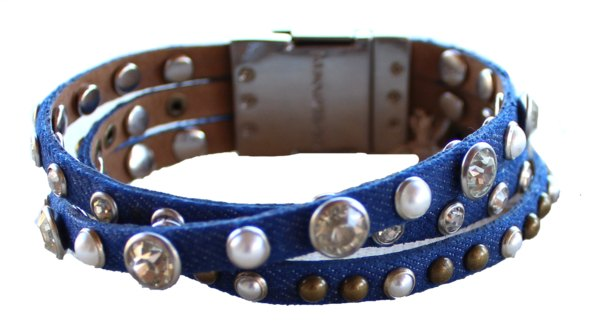 Bracelet - Leather Braided Bracelet - Indigo