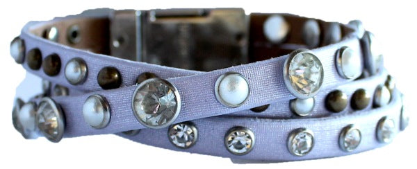 Bracelet - Leather Braided Bracelet - Lavender