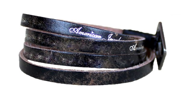 Bracelet - Leather Wrap Bracelet - Vintage Black