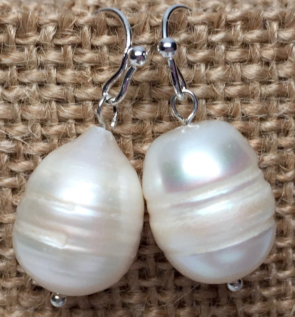 Earrings - Pearl Earrings - Silver