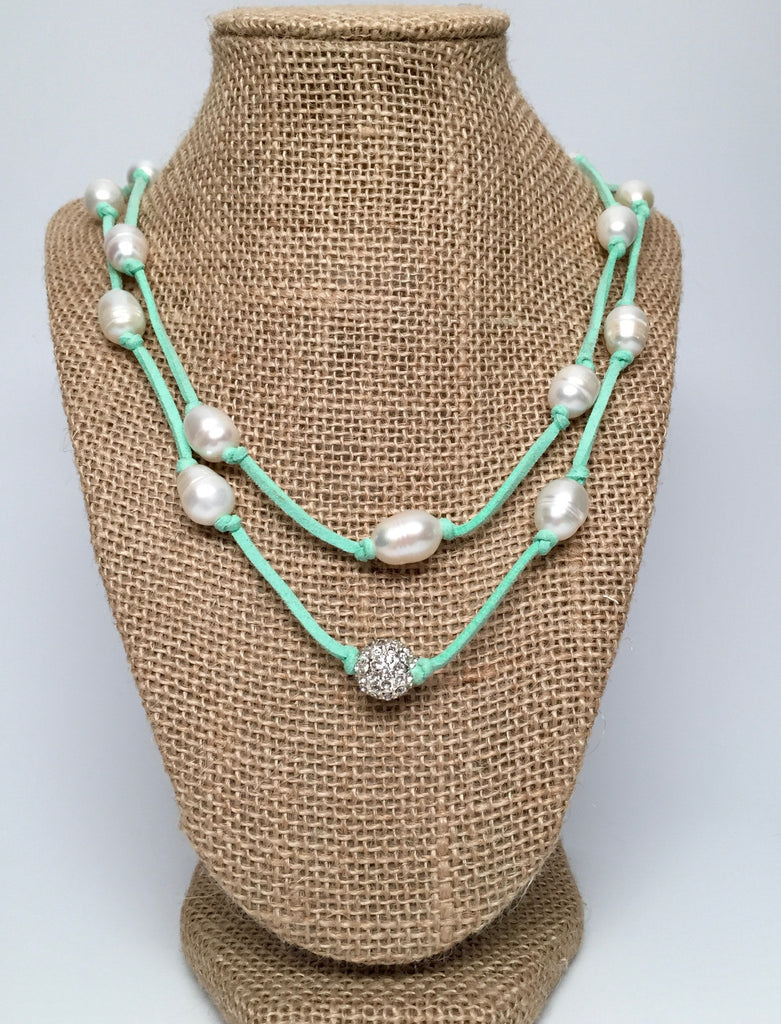 Necklace - Grace Necklace - Aqua