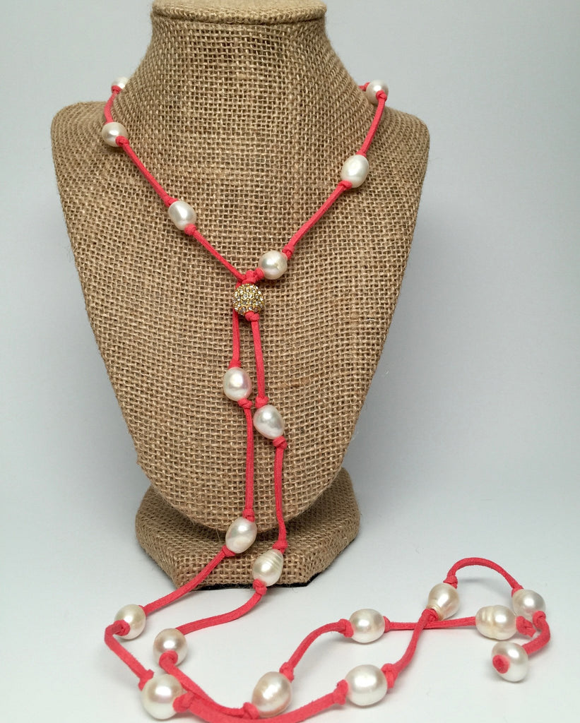 Necklace - Grace Necklace - Coral