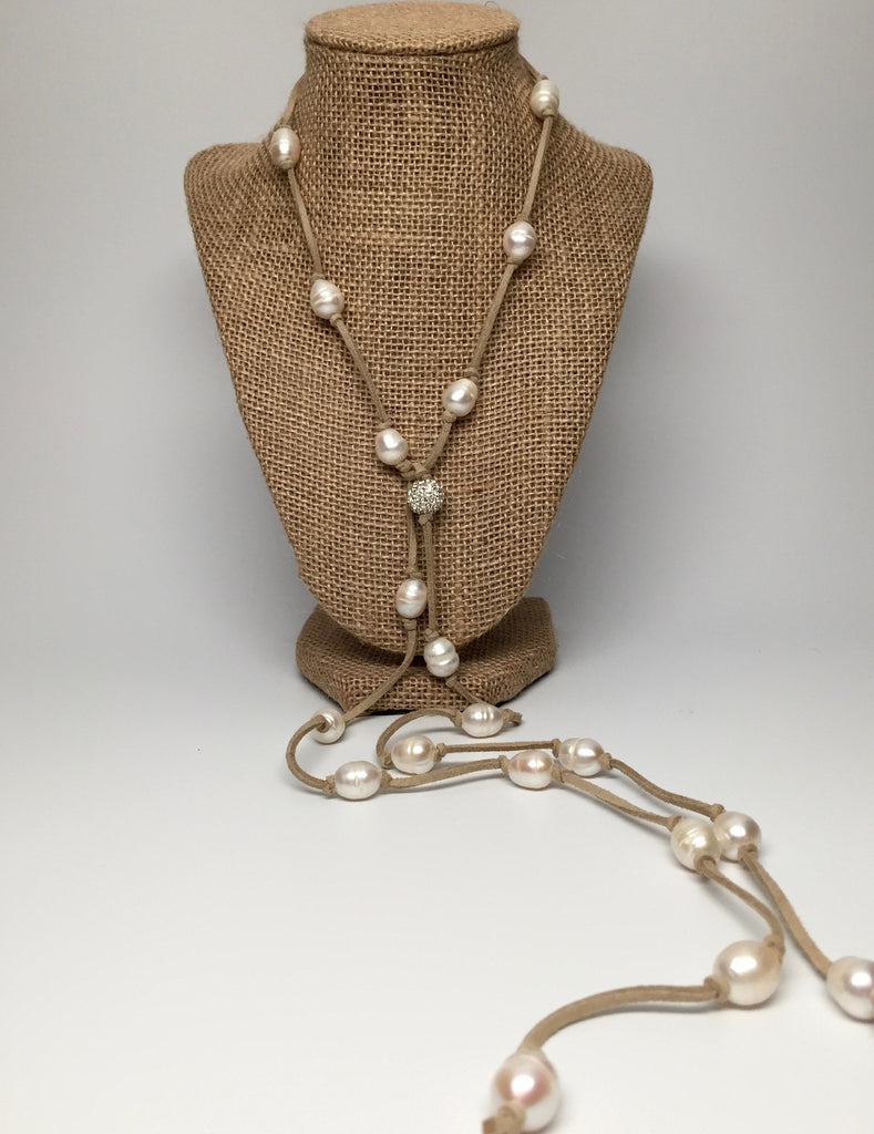 Necklace - Grace Necklace - Natural Taupe