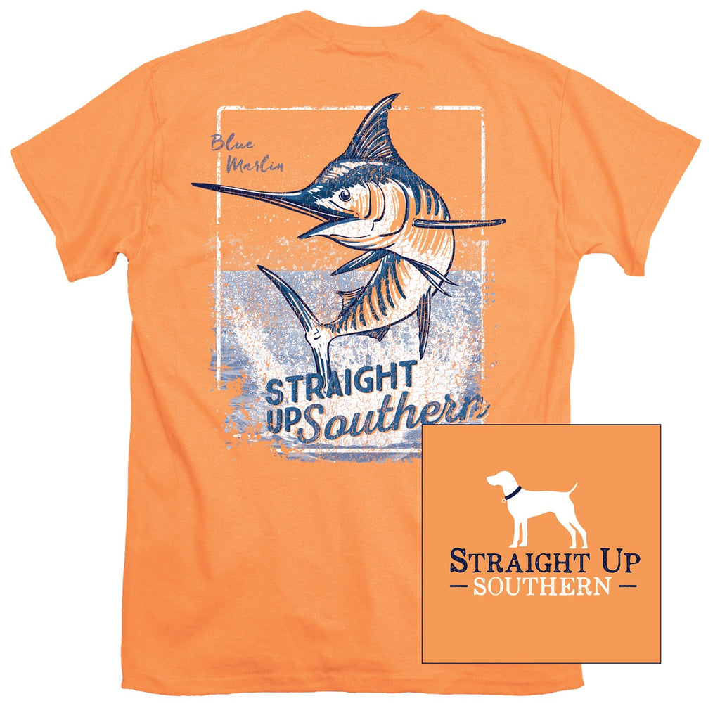 Shirt - Fighting Marlin Shirt - Tangerine