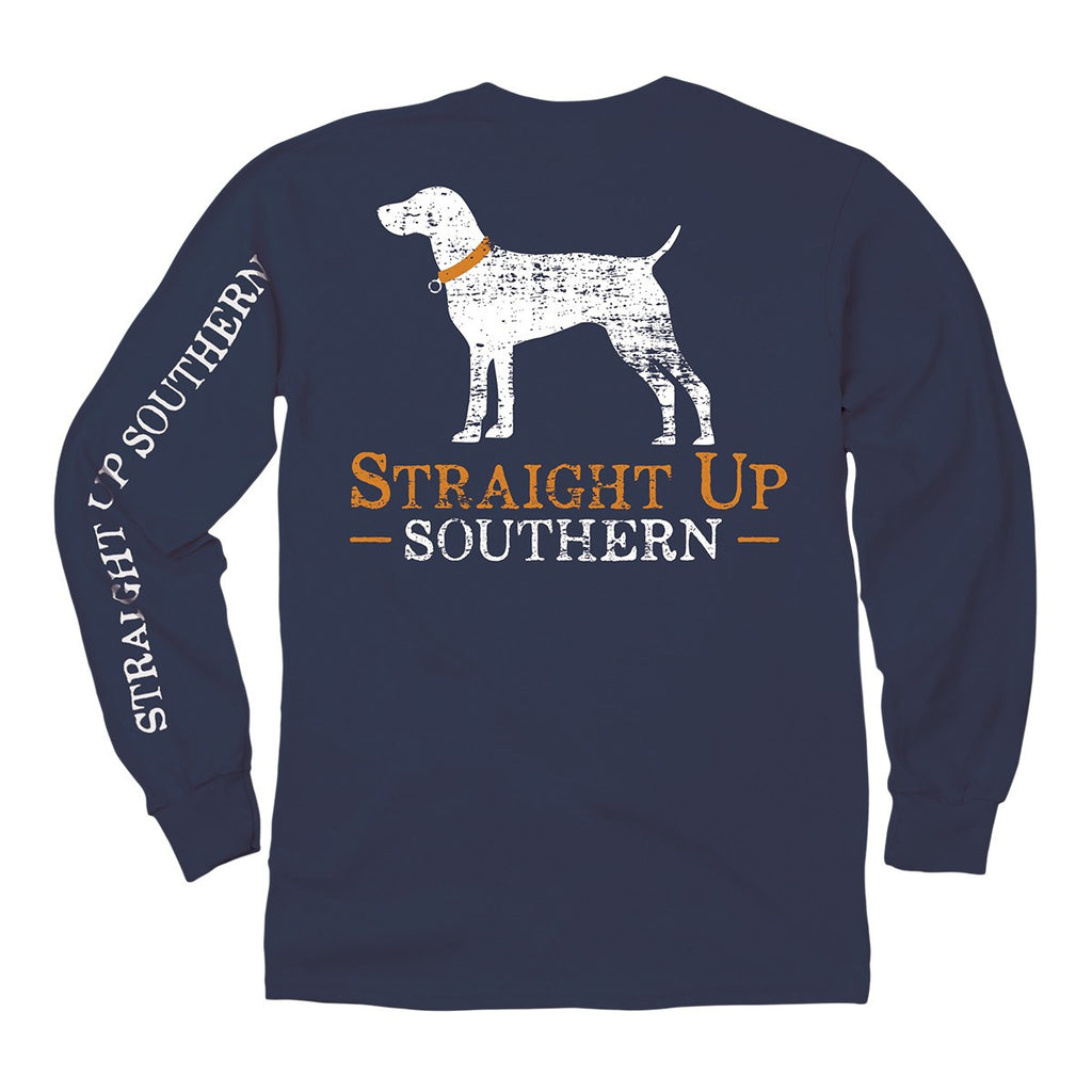 Shirt - Straight Up Southern - Long Sleeve Shirt - Navy