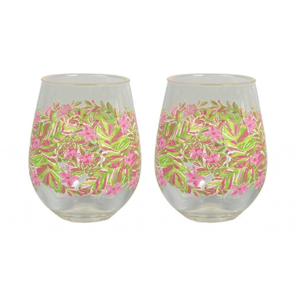 Stemless Glasses - Stemless Wine Glasses - Jungle Tumble