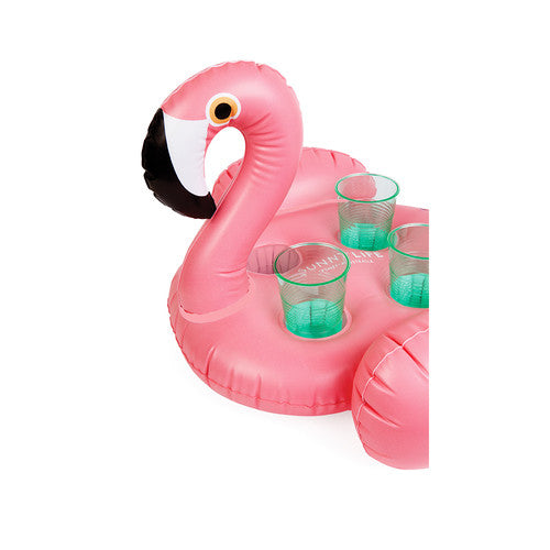 Inflatable Flamingo Drink Holder - Flora