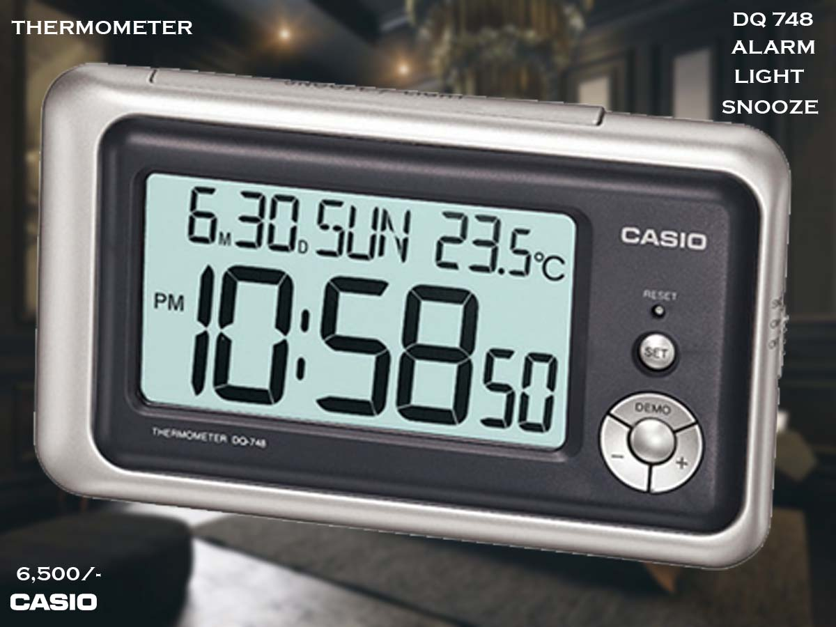 W Casio Alarm Clock DQ 748 8