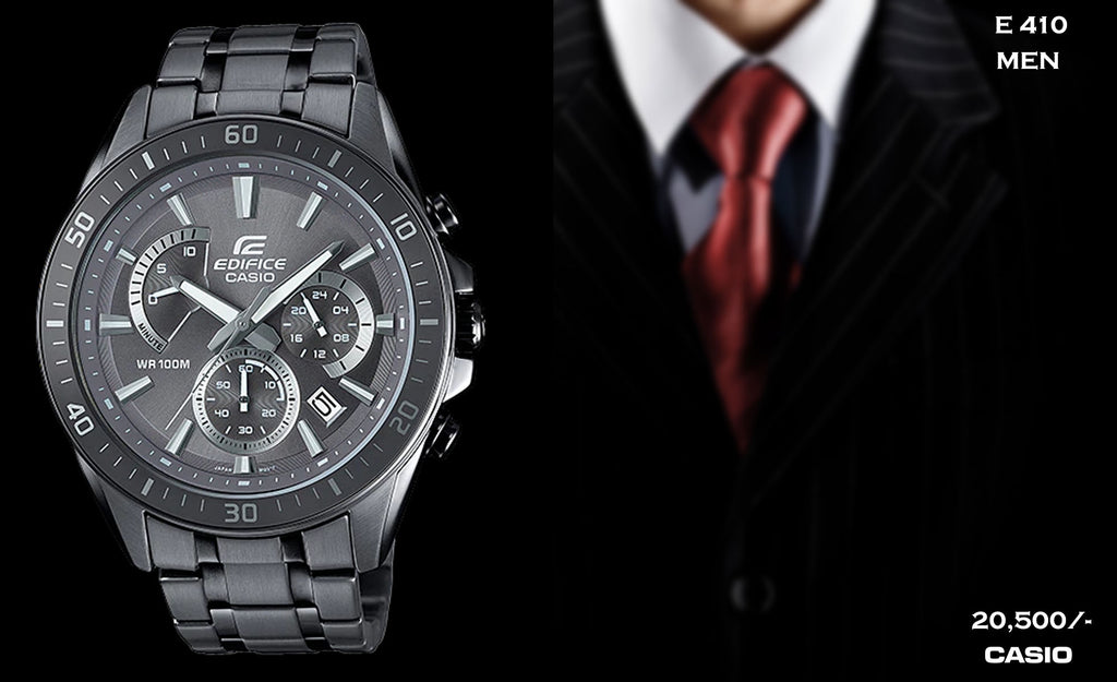 Casio Edifice Gun-Metal  E 410