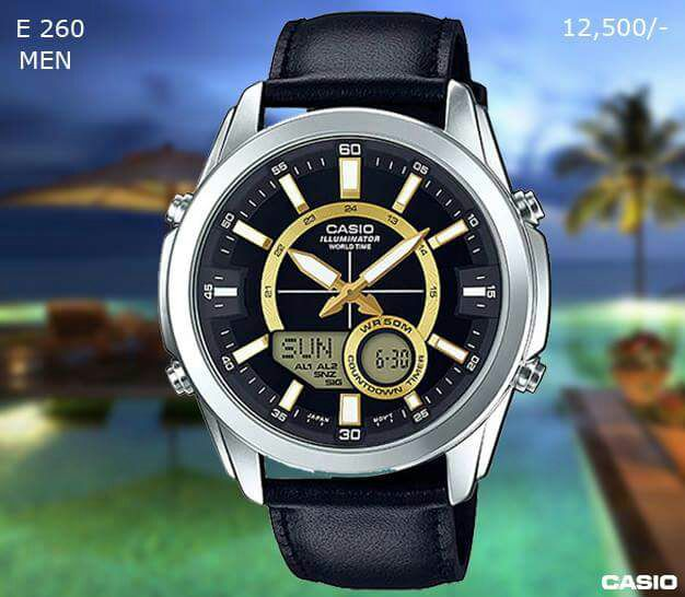 Casio Exclusive Genuine Leather Timepiece for Men E 260