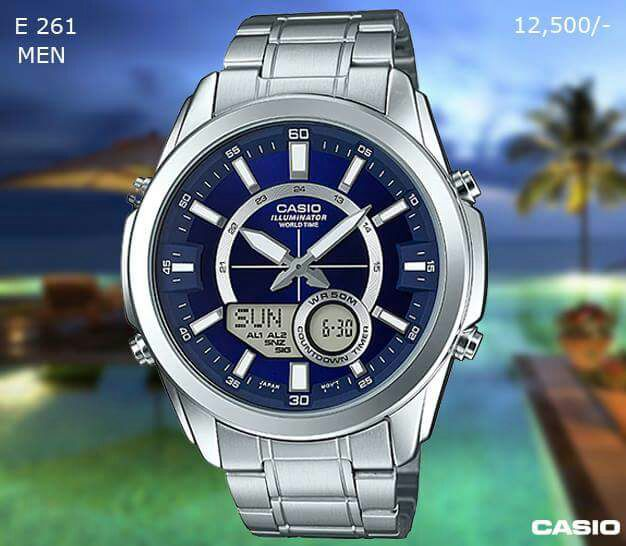 Casio Exclusive Stainless Steel Timepiece for Men E 261