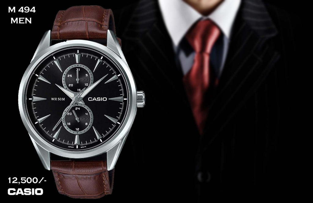 A Casio Exclusive Leather for Men M 494