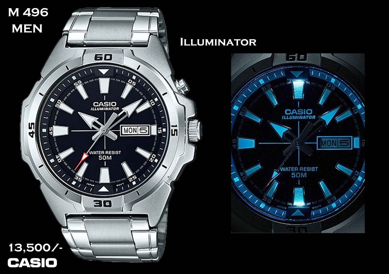 Casio Illuminator for Men M 496