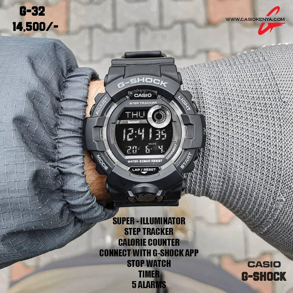 Casio G-SHOCK for Men Step Tracker,Bluetooth Link G 32