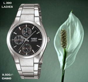 Casio Exclusive Stainless Steel for Ladies L 390