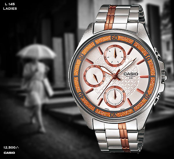 Casio Exclusive Ladies Steel Belt L 145