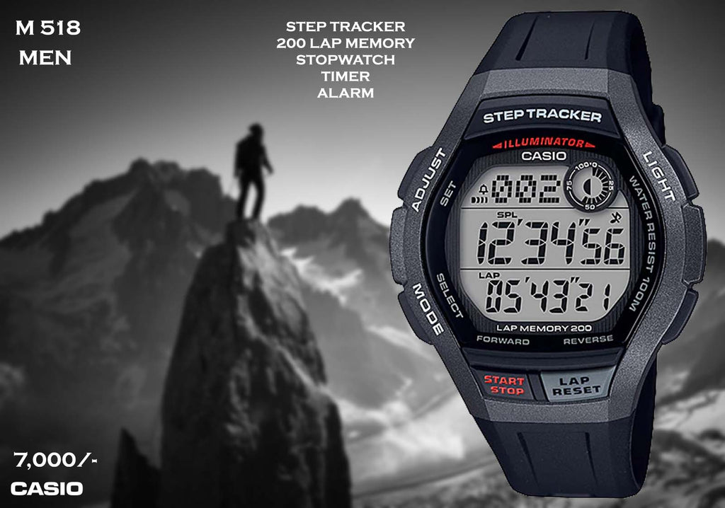 A Casio Steptracker  M 518