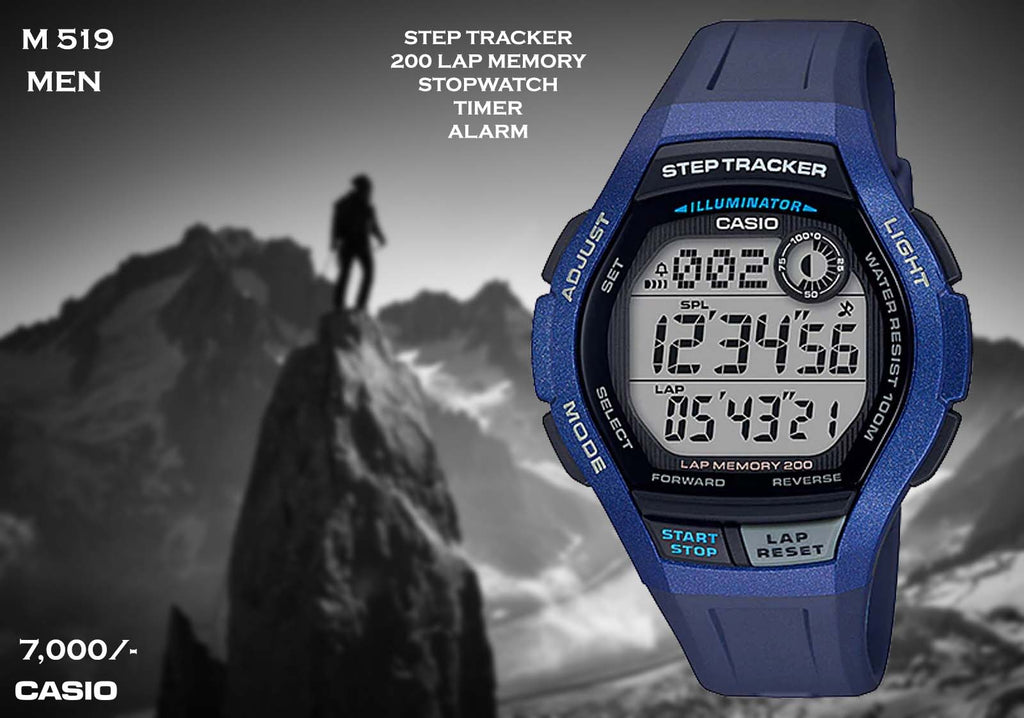 A Casio Steptracker  M 519